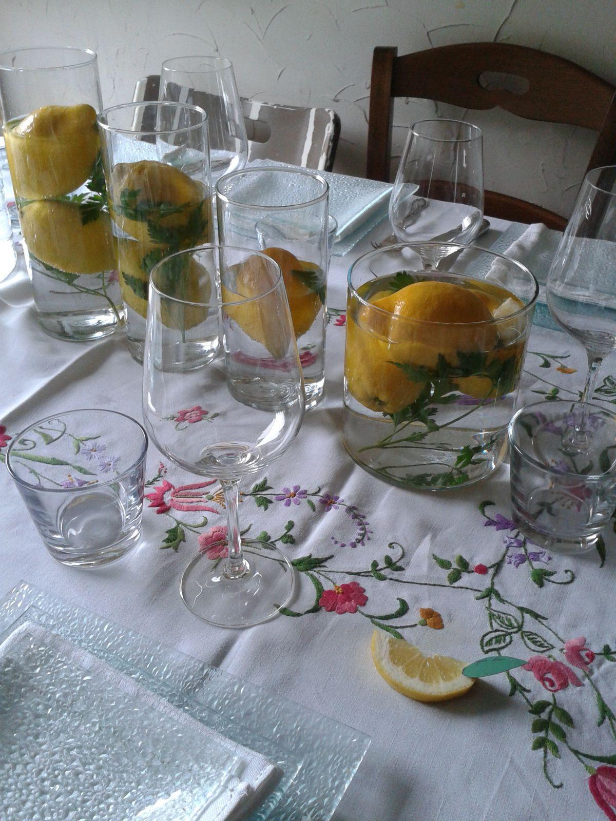 repas sur le thème du citron