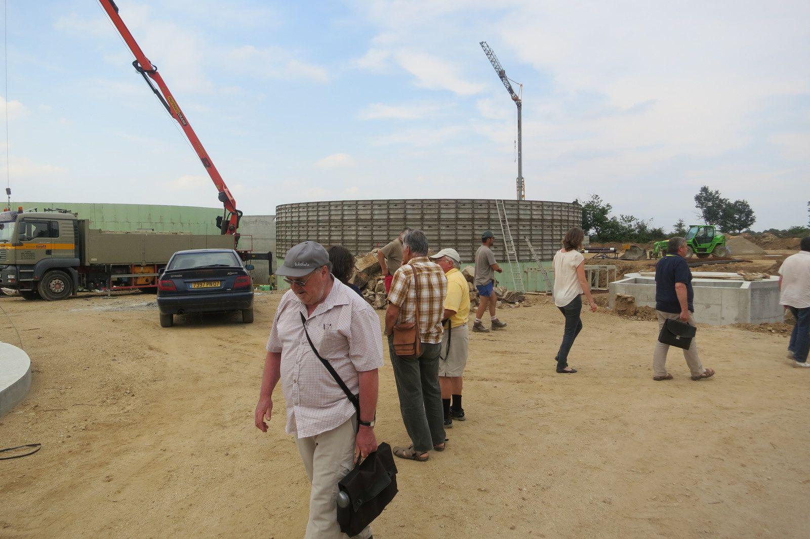 Visite du chantier de l'unité de Méthanisation de la zone de Munas à Ardoix