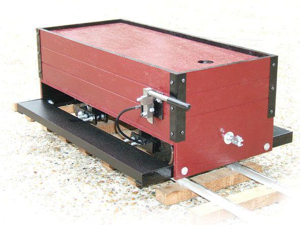 Un wagon pour conducteur (notez le frein à main)