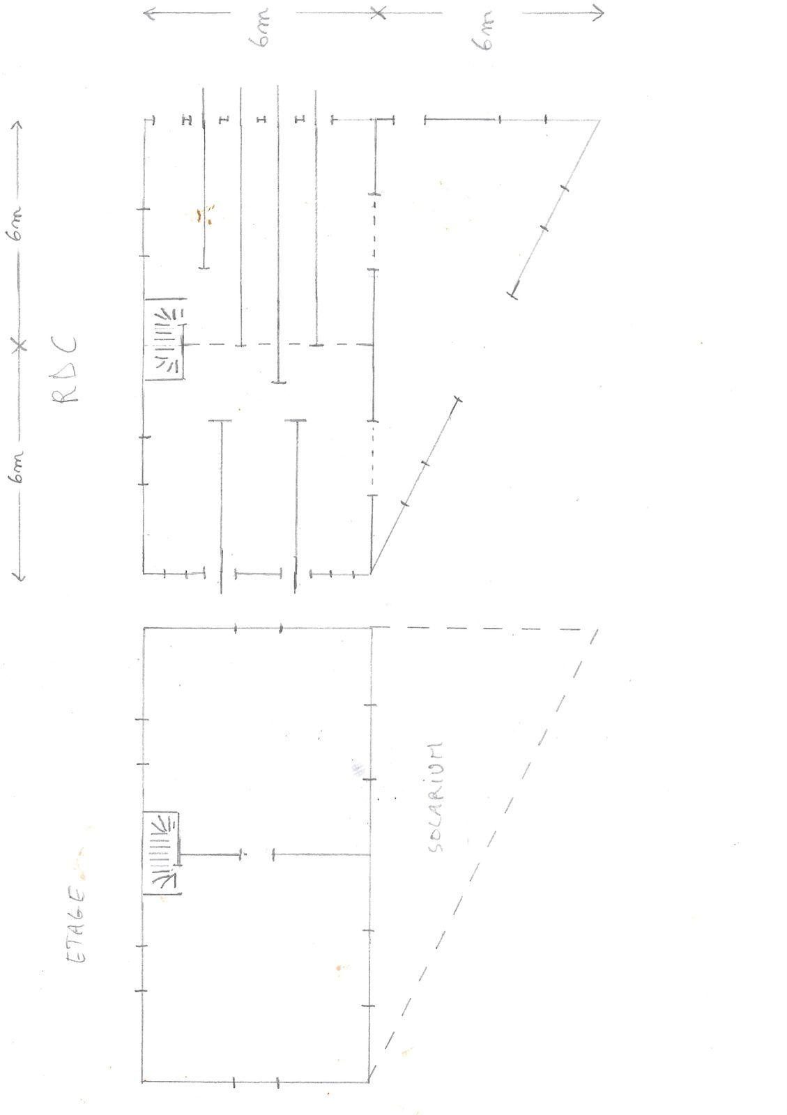 Plan du bâtiment atelier/remisage