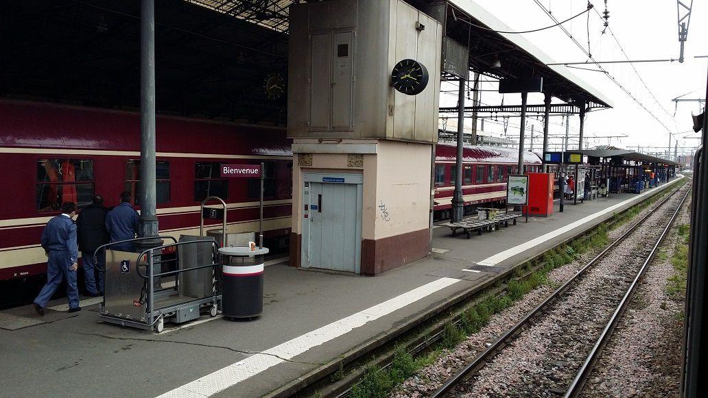 Le train de pèlerins Belges