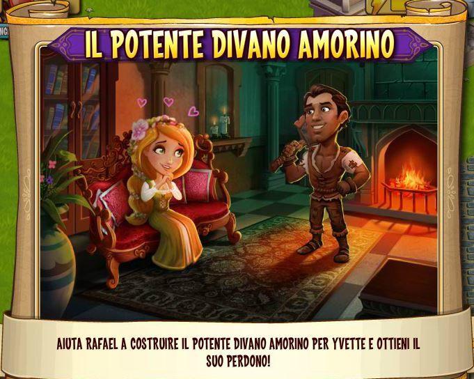 Castleville Missione(Rafael)&quot&#x3B;Il Potente Divanetto dell'Amore&quot&#x3B;!