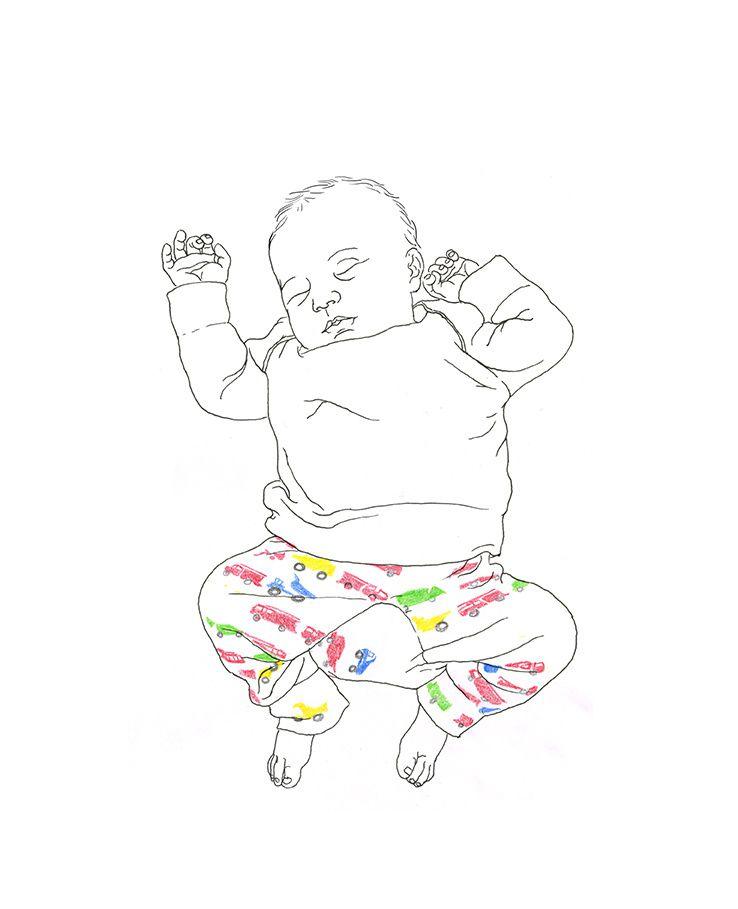 dessins au trait bébé