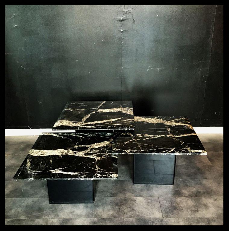 ------- VENDU ------------------------------------------------3 tables gigognes en marbre