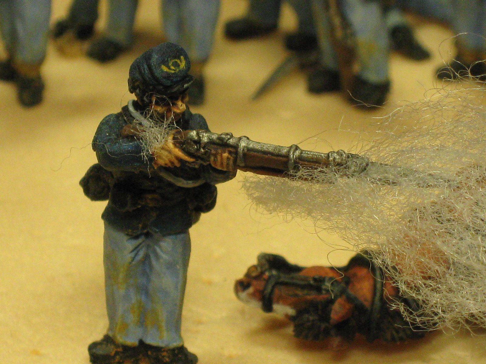 Figurine drill ou le maniement d'un fusil.