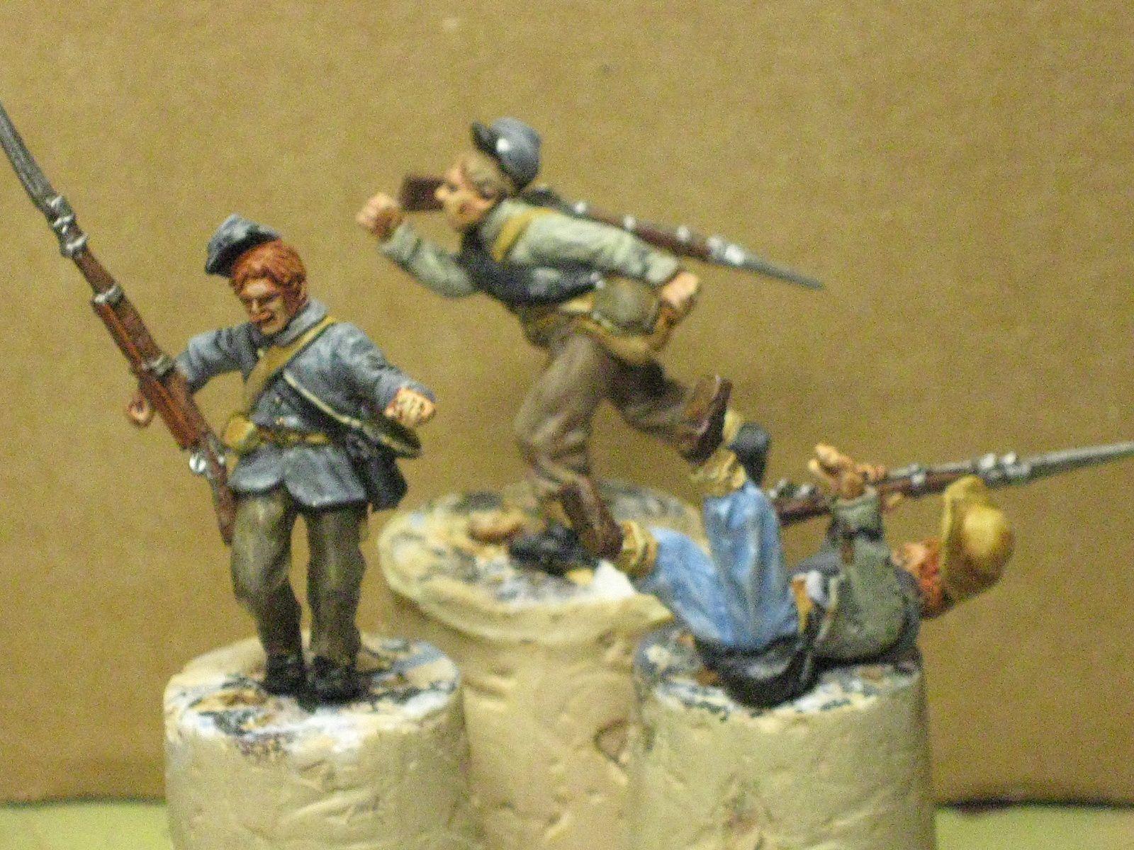 Quelques unes des figurines haute en couleur