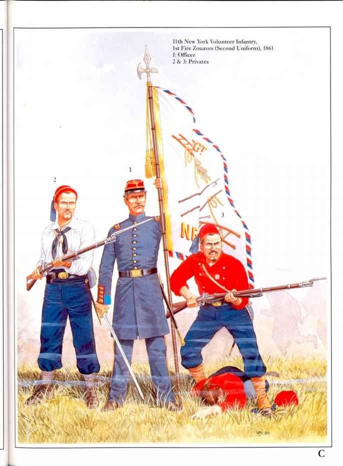 second uniform porté en 1861.Nombre de soldats combattirent à BullRun sans leur veste du à la chaleur .