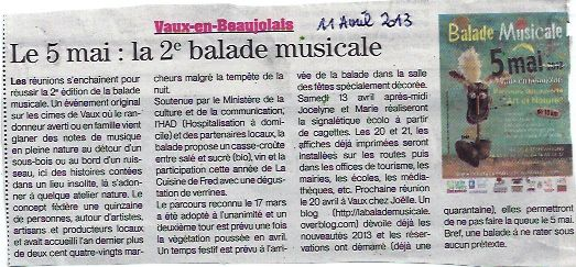 Article du Patriote Beaujolais