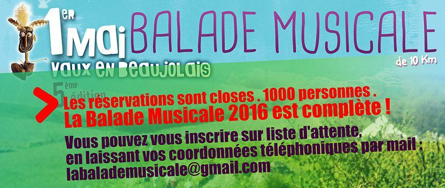 La Balade Musicale 2016 affiche complet !