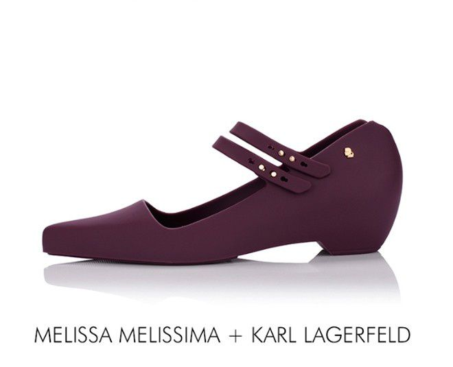 PLASTIC SHOES BY KARL LAGERFELD