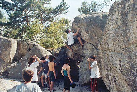 Le bloc à Fontainebleau