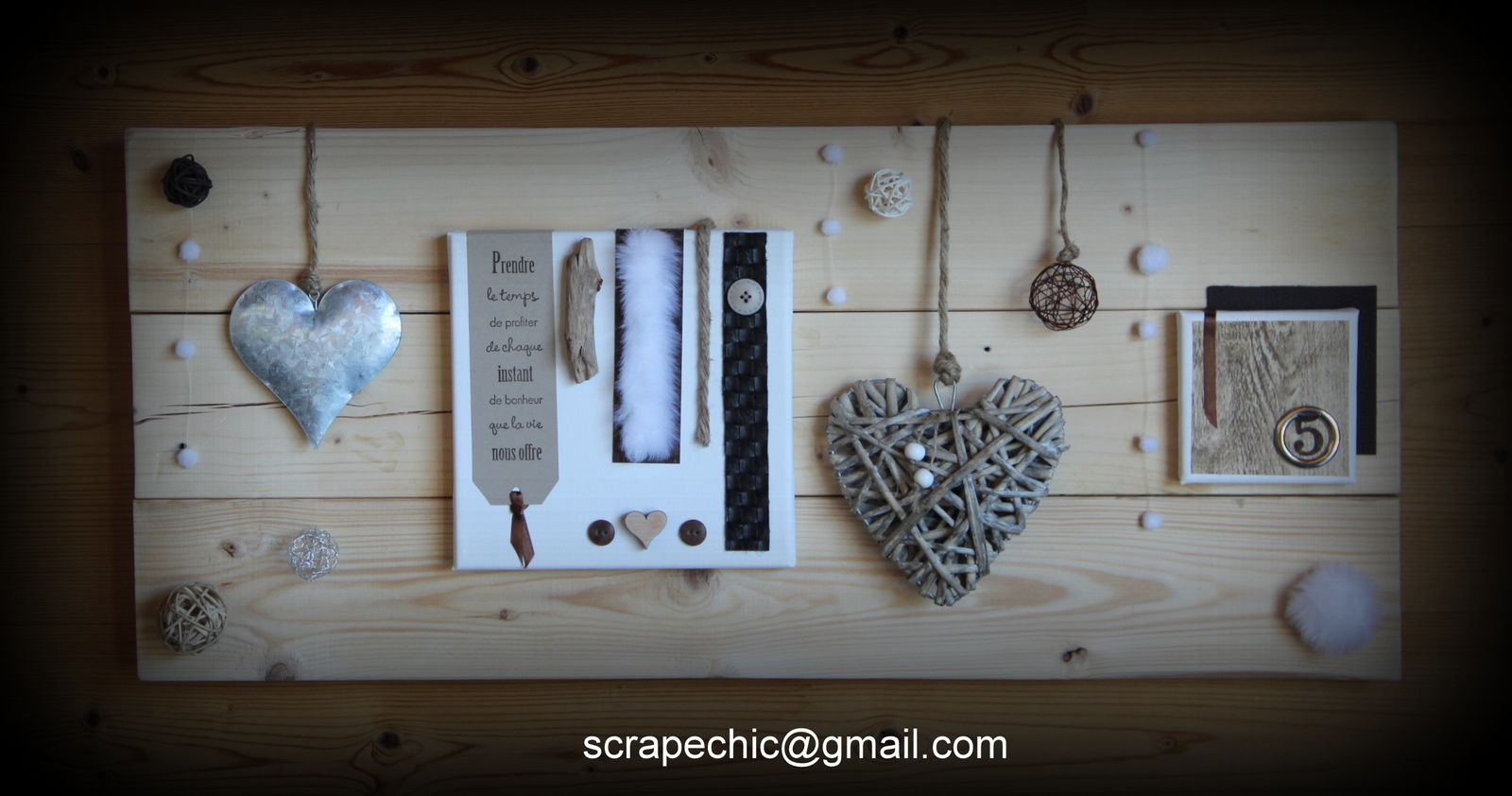 Cadre palette ref the love day scrap chic - Creation avec palette ...