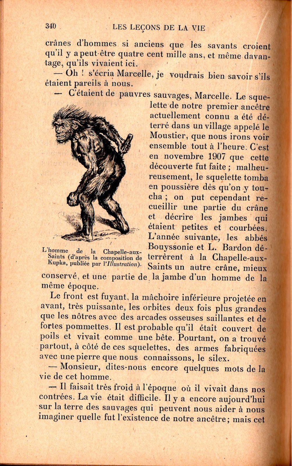 Justin Boex &quot&#x3B;La Leçon de la Vie&quot&#x3B; (Bibliothèque d'éducation - 1910)