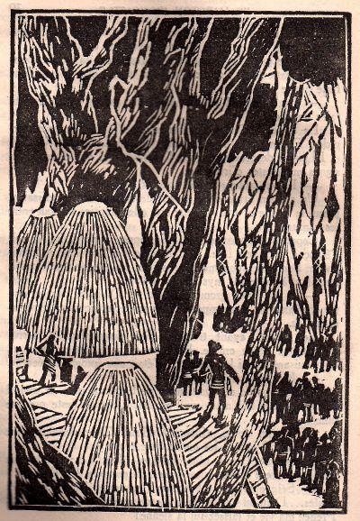 """J.-H. Rosny aîné """"L'Etonnant voyage de Hareton Ironcastle"""" (Ferenczi - 1929), bois originaux d'Emile Beaume"""