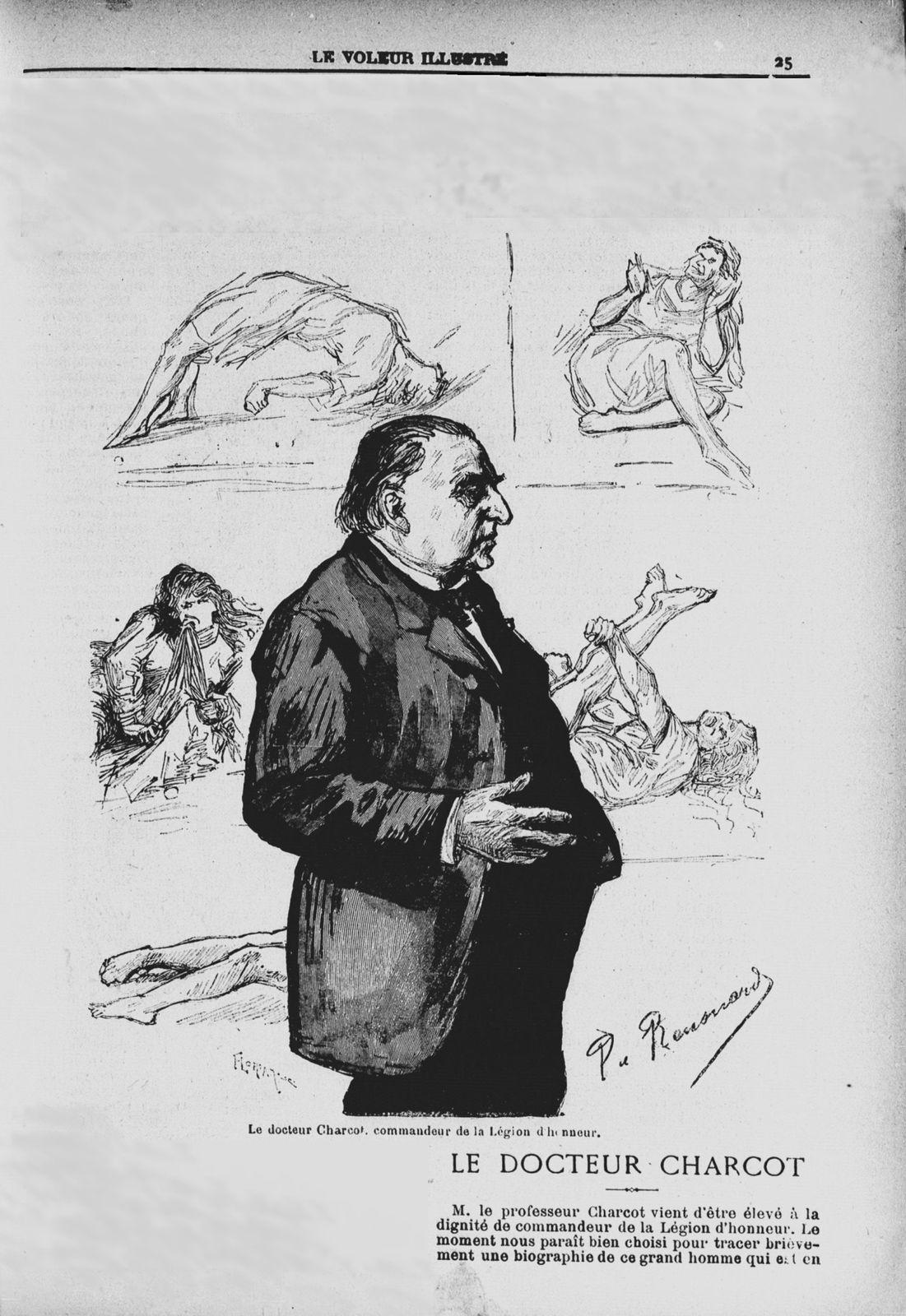 """Dr Paul des Chaintres """"Le Docteur Charcot"""" in Le Voleur illustré : cabinet de lecture universel n°1802 du 14 janvier 1892"""