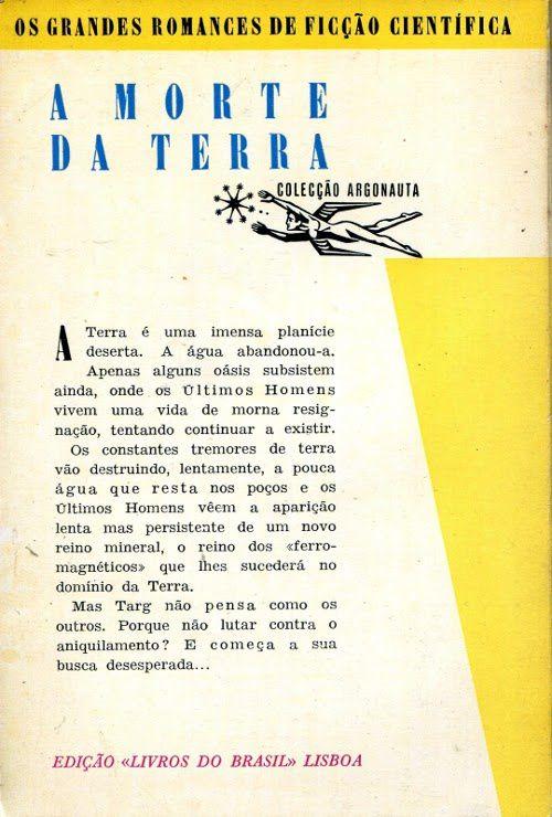 """[Portugal] J.-H. Rosny aîné """"A Morte da Terra"""" (Livros do Brasil - 1959)"""