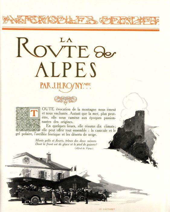 """J.-H. Rosny aîné """"La Route des Alpes"""" (Draeger - 1912)"""