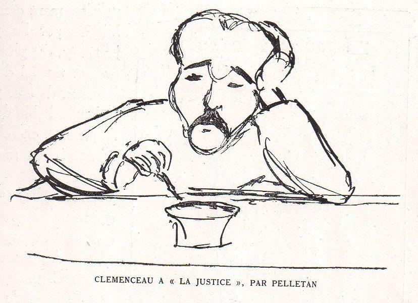 """Georges Clemenceau à """"La Justice"""", par Pelletan"""