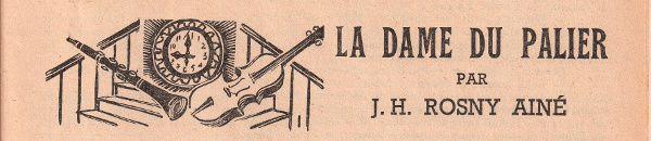 """J.-H. Rosny aîné """"La Dame Du Palier"""" in Lisez-Moi n°12 (octobre 1953)"""