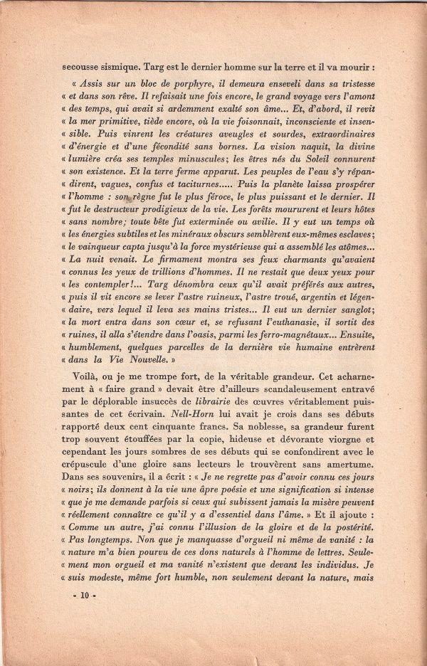 """J.-H. Rosny aîné, par Jean Cabanel et """"La Mort de Horn"""" dans Triptyque n°131 (1940)"""