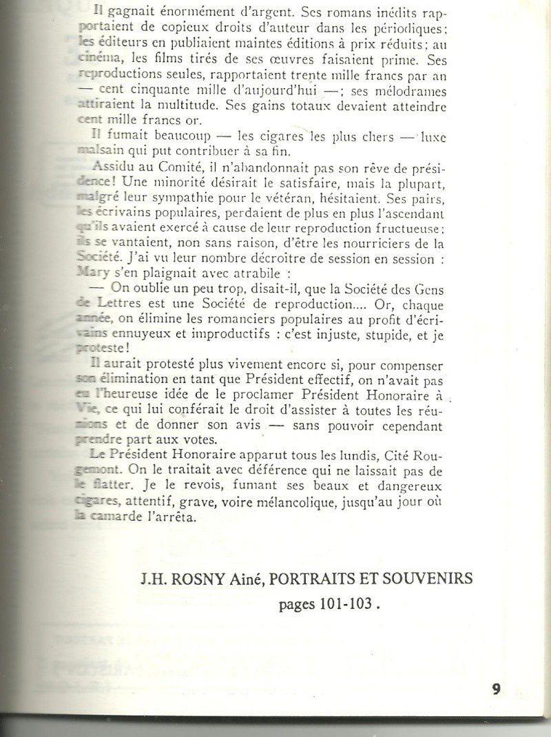 J.-H. Rosny aîné in Bulletin de l'Association des Amis du Roman Populaire n°11 (automne 1989)