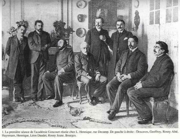 Photographie de l'Académie Goncourt (1903) [variante]
