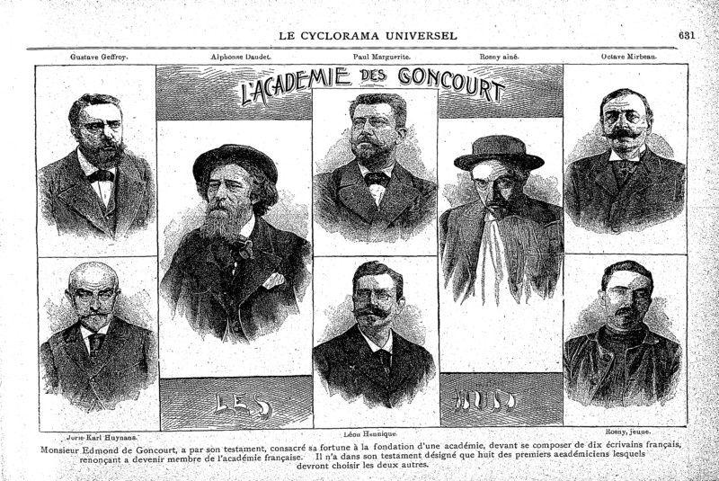 L'Académie des Goncourt - Les Huit (1896)