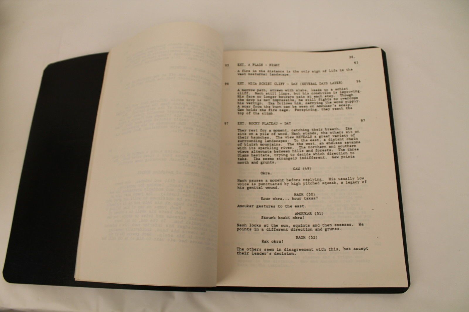 "Gérard Brach ""Quest for Fire : Movie script - first draft"" (1979)"