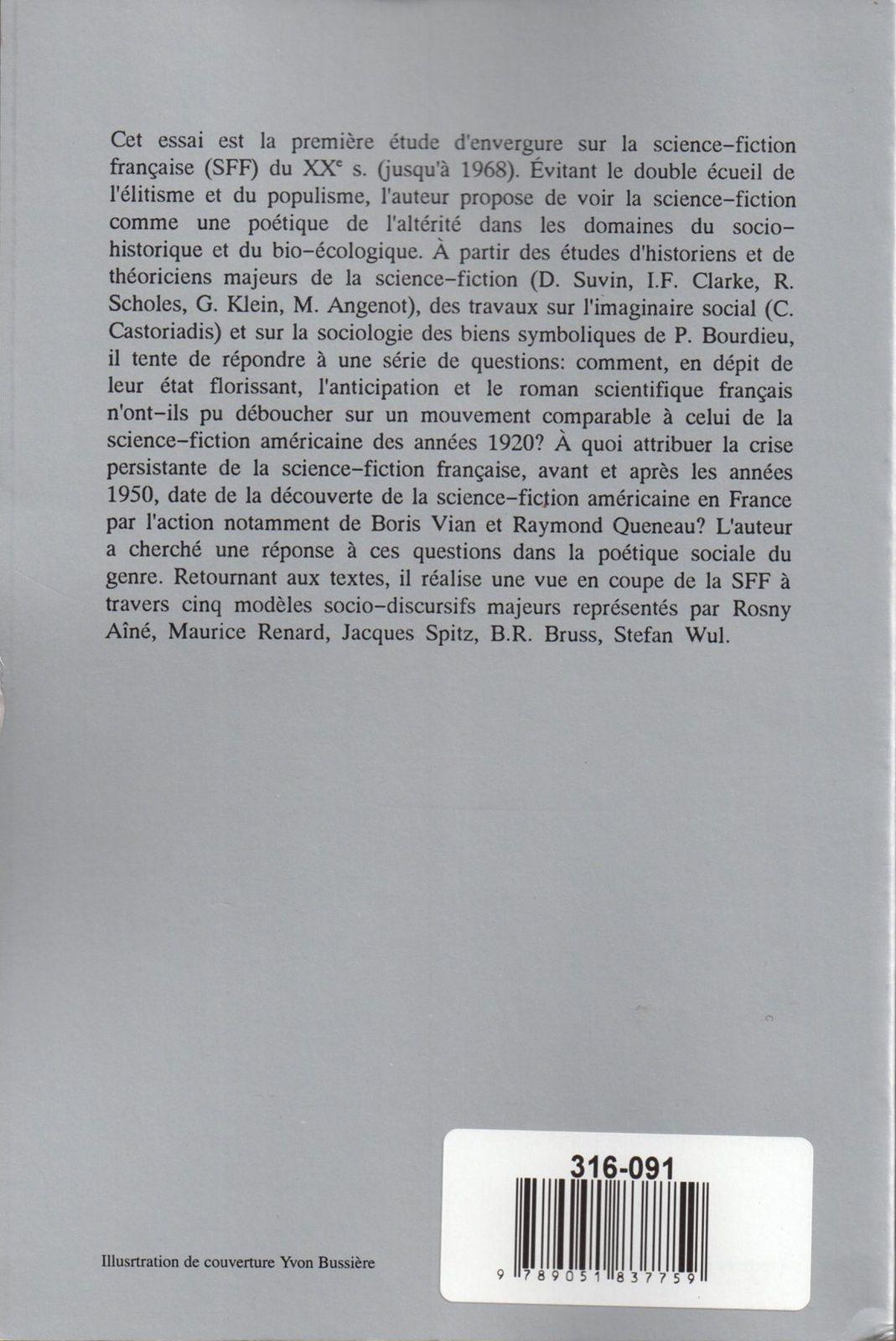 """Jean-Marc Gouanvic """"La Science-fiction française au XXe siècle (1900-1968)"""" (Rodopi - 1994)"""