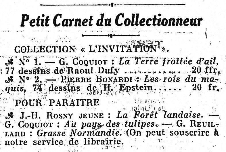 """J.-H. Rosny Jeune """"La Forêt landaise"""" (André Delpeuch Editeur - 1926)"""