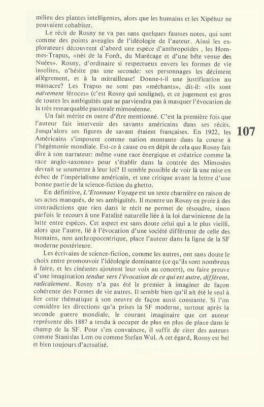 """Jean-Marc Gouanvic """"Rosny aîné et la science-fiction moderne"""" in Imagine n°13 (1982)"""