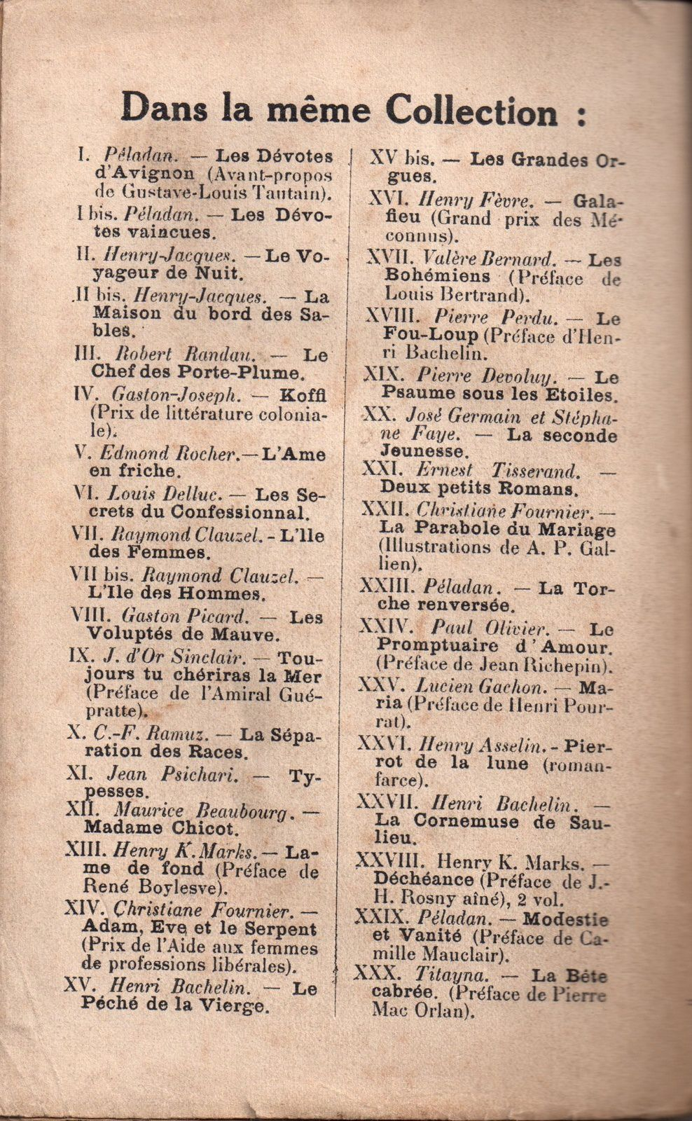 "Henry K. Marks ""Déchéance - Peter Middleton"" (Éditions du Monde - 1925)"