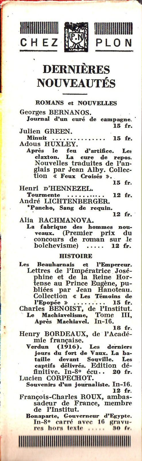 "J.-H. Rosny aîné ""Le Félin géant"" (Plon - 1936)"