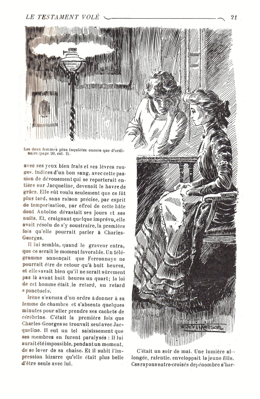"""J.-H. Rosny """"Le Testament volé"""" in Les Heures littéraires illustrées (1911)"""