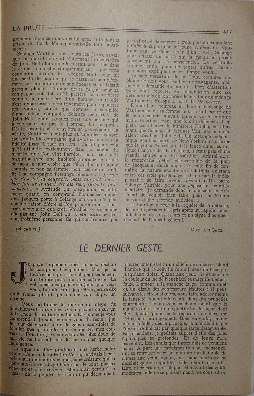 "J.-H. Rosny aîné ""Le Dernier geste"" in Lisez-Moi n°164 (1952)"