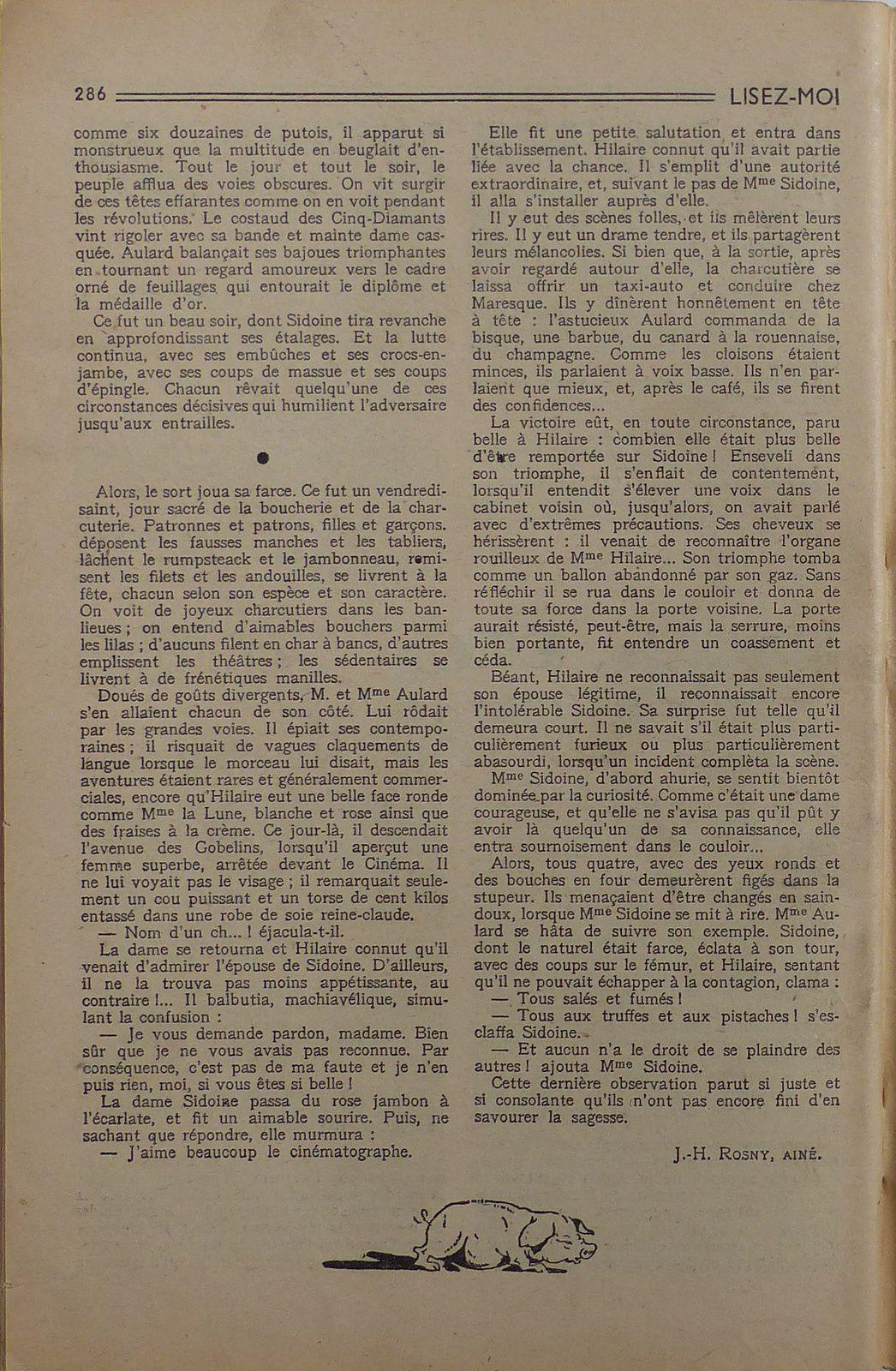 """J.-H. Rosny aîné """"Les Deux charcutiers"""" in Lisez-Moi n°124 (1951)"""