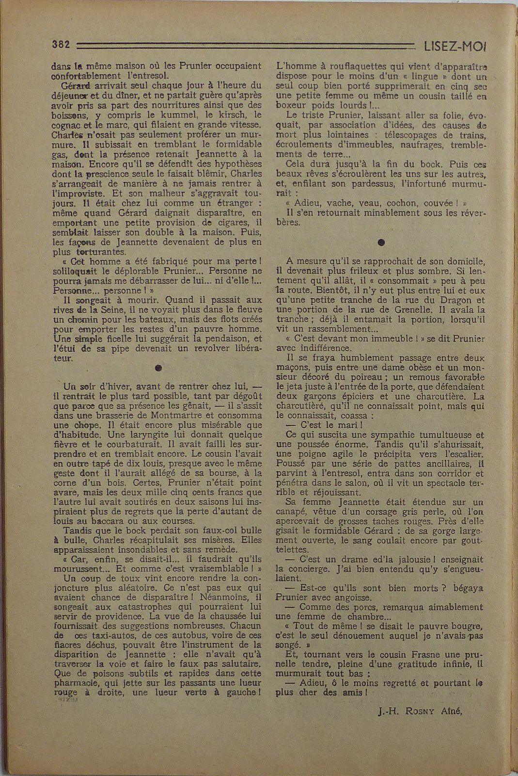 """J.-H. Rosny aîné """"La Force des circonstances"""" in Lisez-Moi n°102 (1950)"""