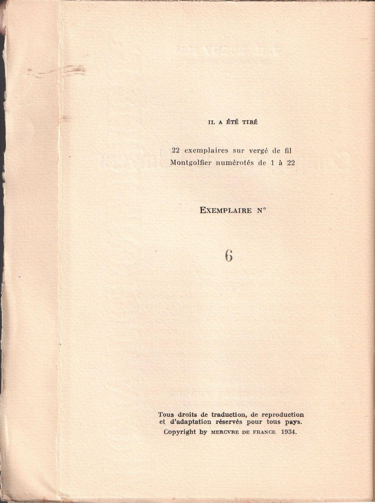 """J.-H. Rosny aîné """"Les Compagnons de L'univers"""" (Mercure de France - 1934) [Vergé de fil Montgolfier]"""