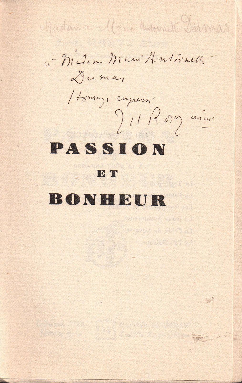 """J.-H. Rosny aîné """"Passion et bonheur"""" (Nouvelle Revue Critique - 1932) [Papier alfa]"""