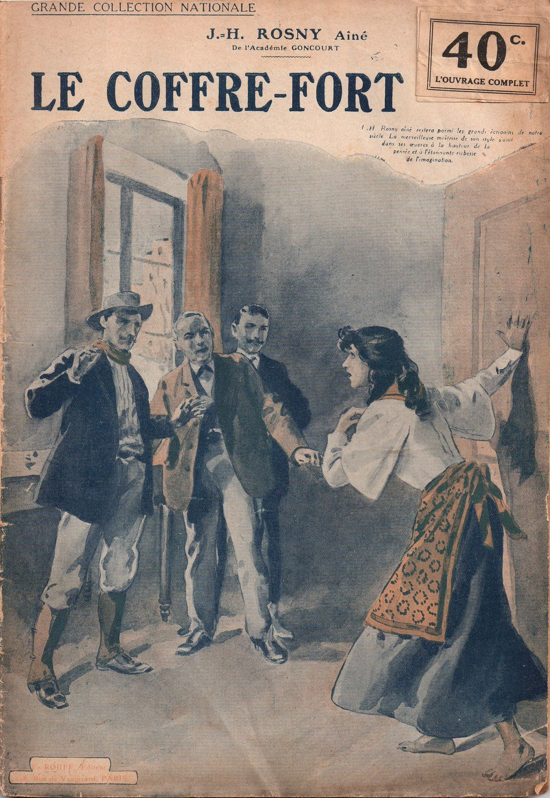 """J.-H. Rosny aîné """"Le Coffre-fort, suivi de contes"""" (F. Rouff - s.d.) [Retirage]"""