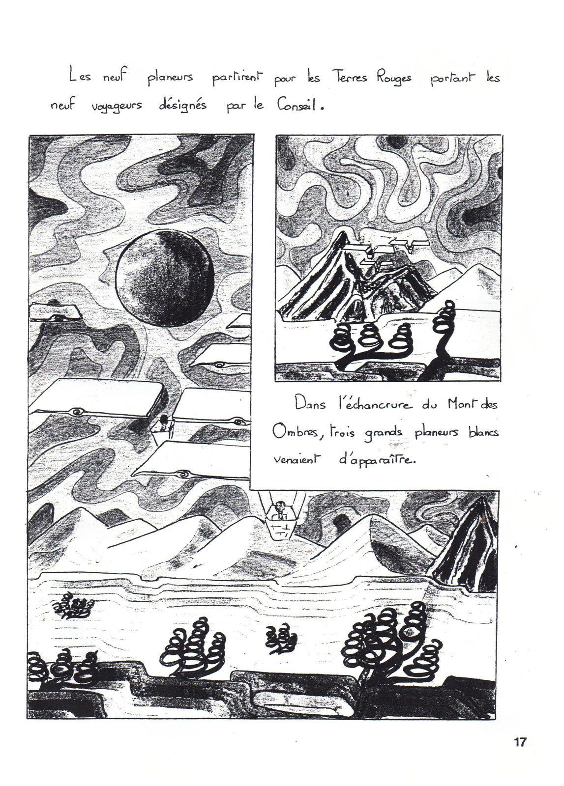 """J.-H. Rosny aîné """"La Mort de la Terre"""", adapt. par Marie-Reine Boureau (Atelier d'art graphique trianien - 1990/91)"""