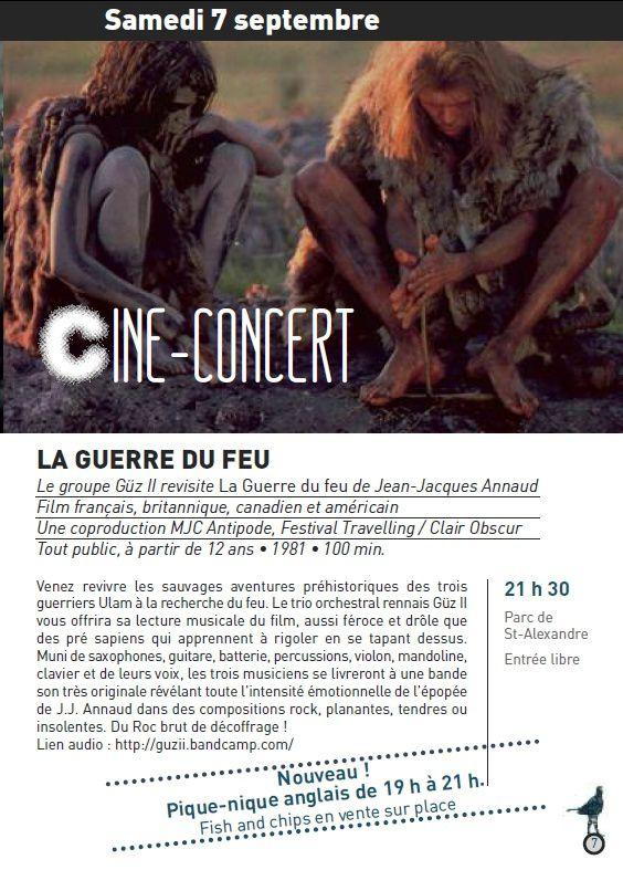 Ciné-concert &quot&#x3B;La Guerre du Feu&quot&#x3B;, par GÜZ II