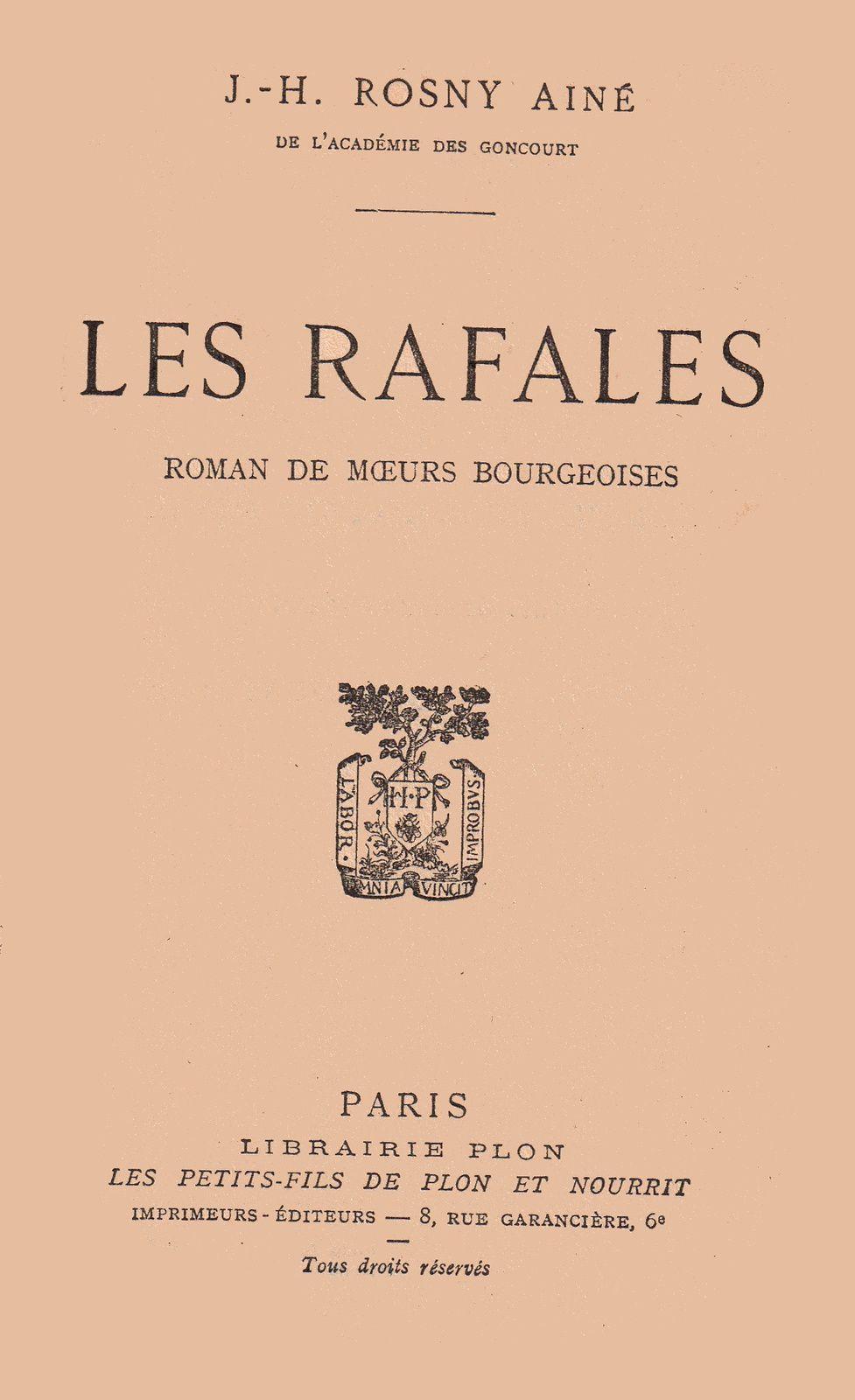 """J.-H. Rosny Jeune """"Le Docteur Harambur"""" (Editions Classiques et Contemporaines - s.d.)"""