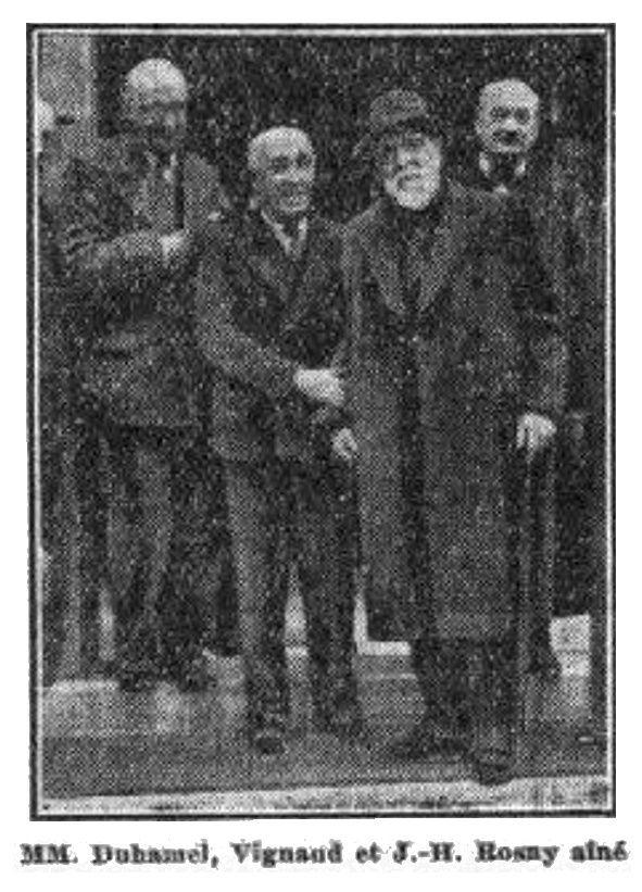 """M. B. """"M. J.-H. Rosny fêté à la Société des gens de lettres"""" (1936)"""