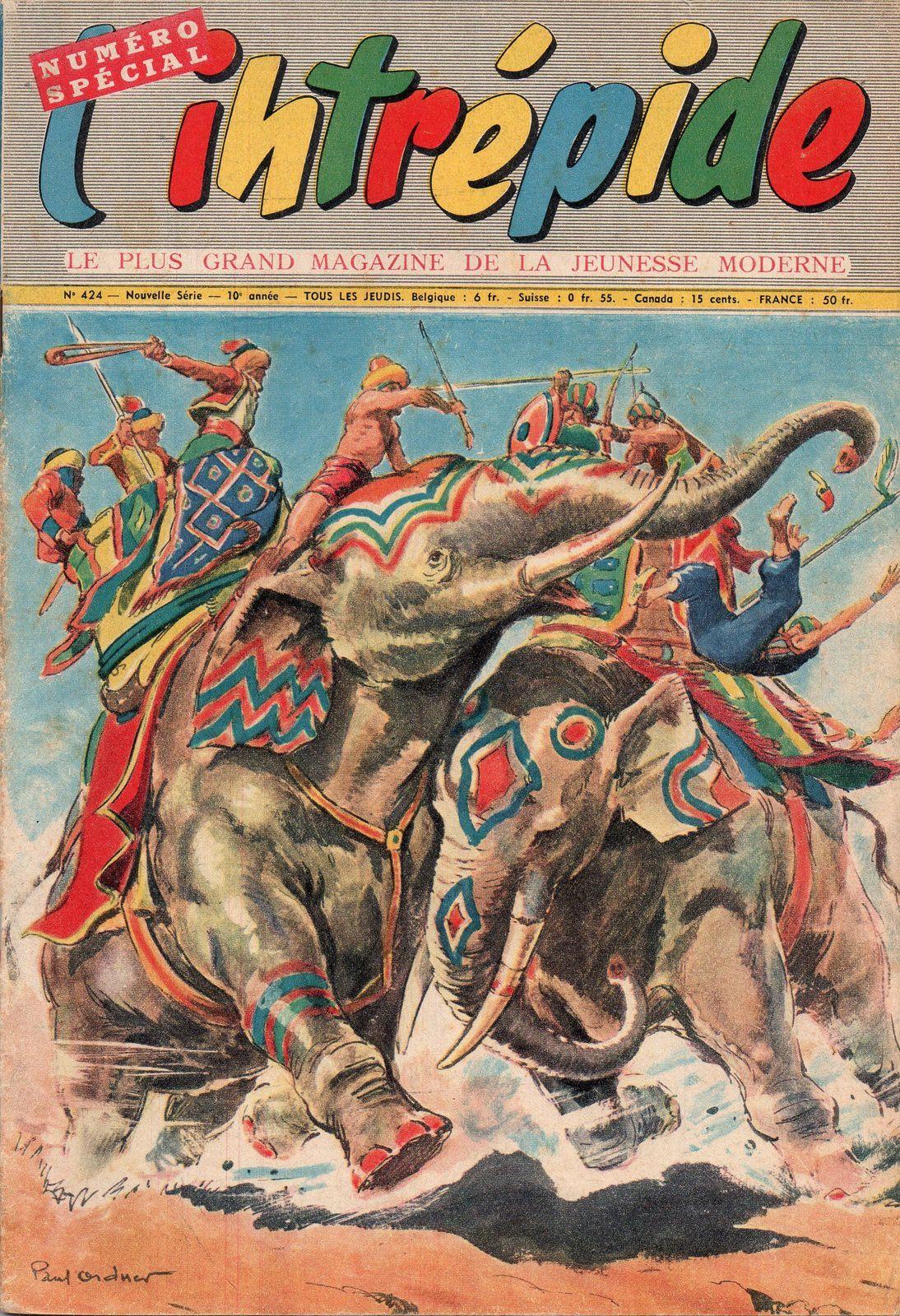 """J.-H. Rosny aîné """"Le Trésor lointain"""", par Pierdec (L'Intrépide n°424 - 1957)"""