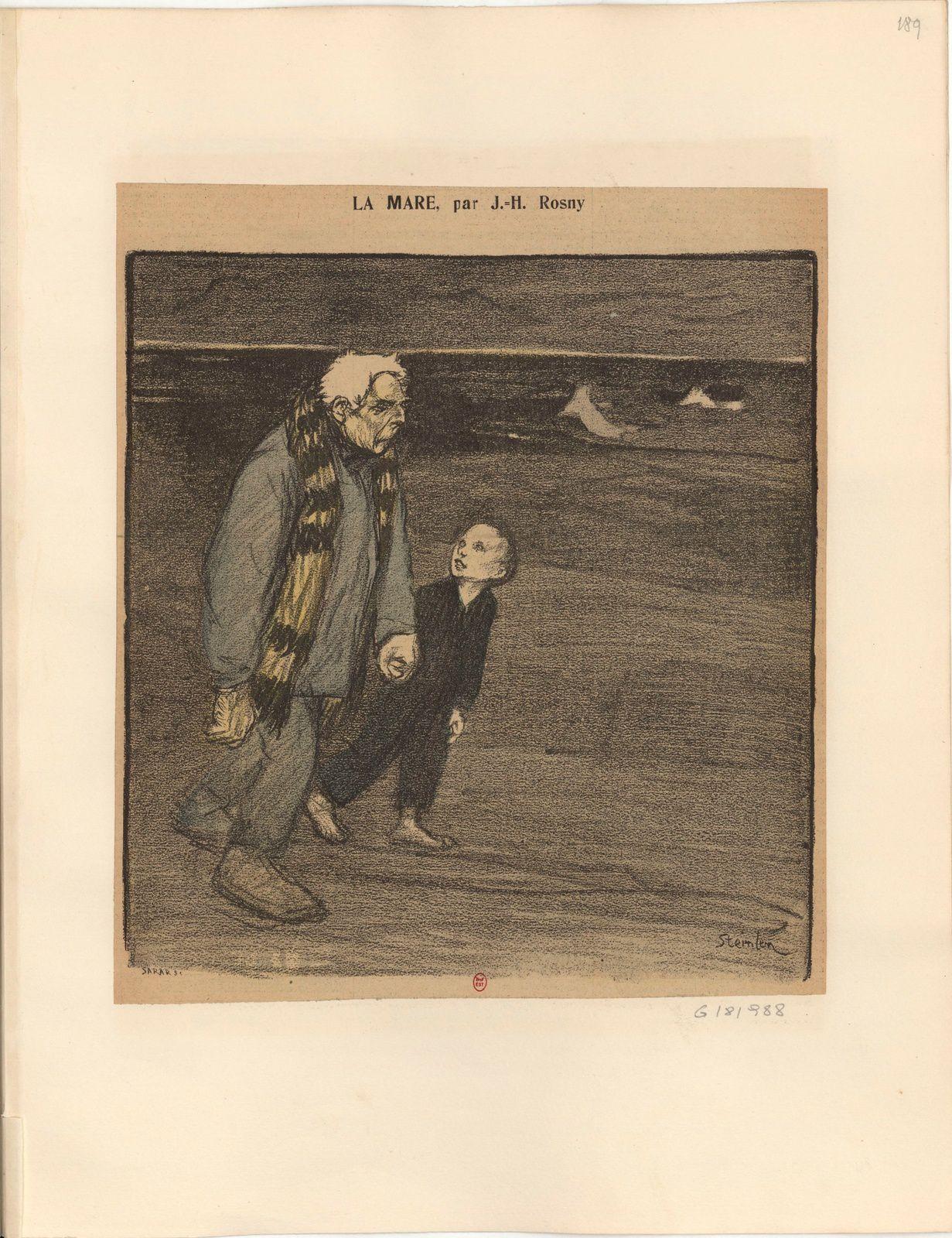 Illustrations de Steinlen pour J.-H. Rosny (1894-1896)