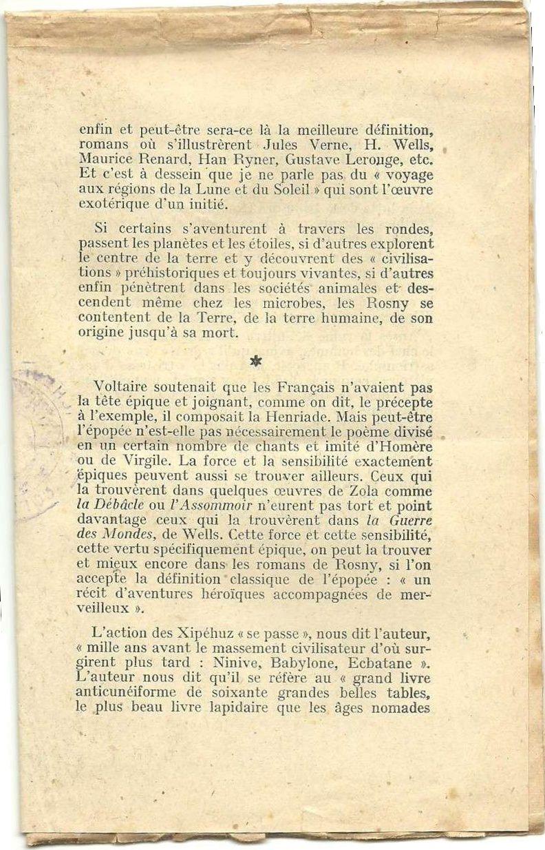 """J.-H. Rosny aîné """"Les Xipéhuz"""" in Les Belles Lectures n°192 du 1er au 14 novembre 1951"""