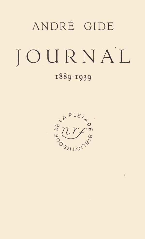 "Allusions : André Gide ""Journal 1889-1939"" (1941)"
