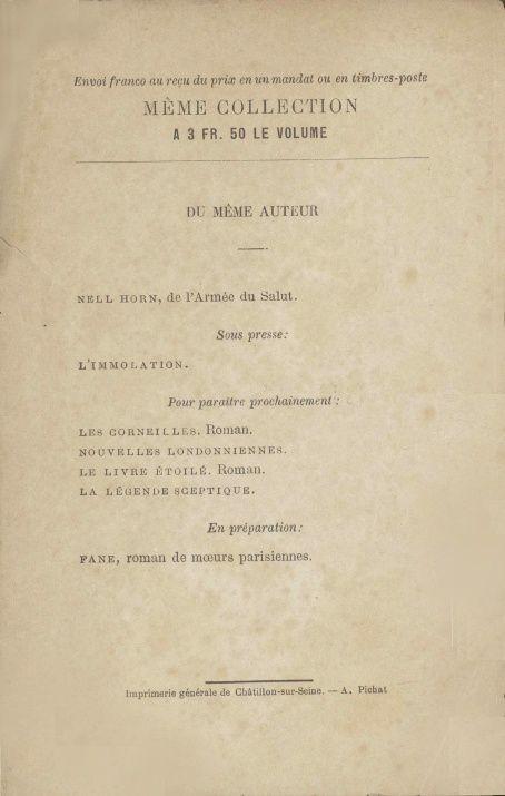 "J.-H. Rosny ""Le Bilatéral"" (Albert Savine - 1887)"