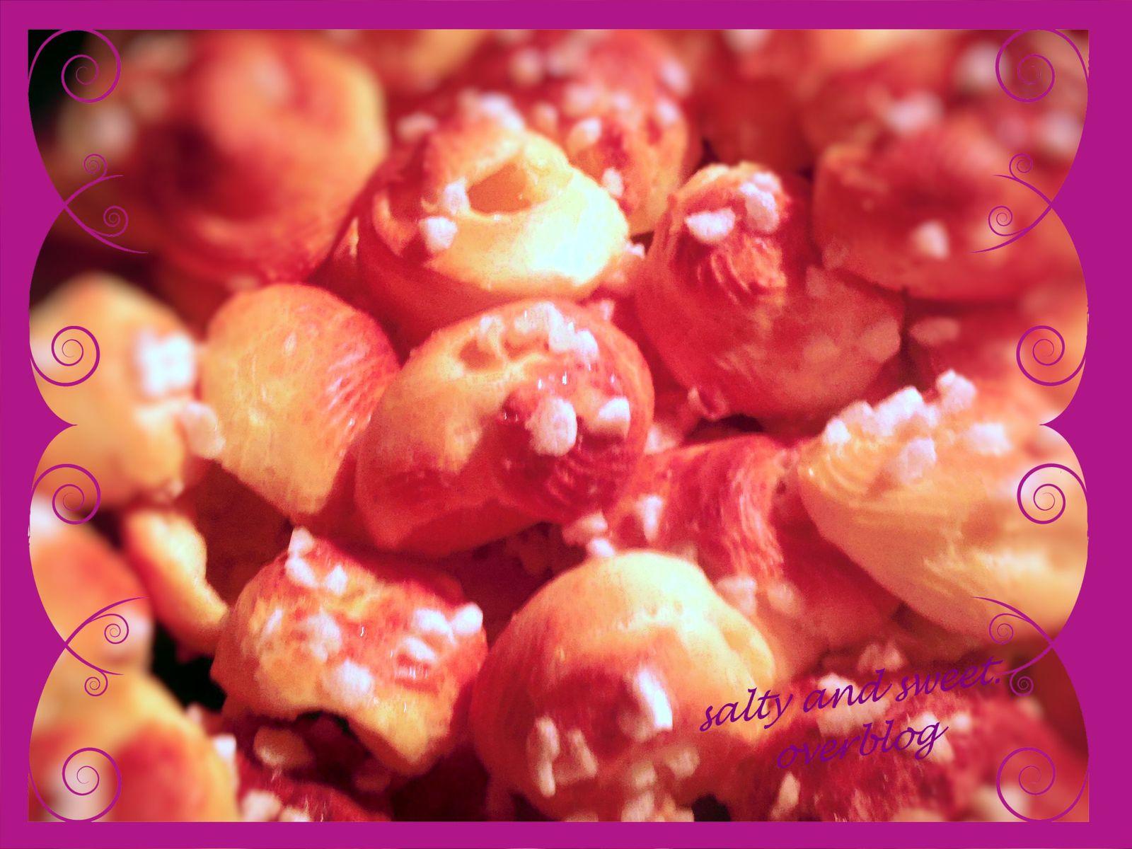 Chouquettes aux grains de sucre